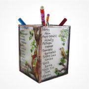 Baglyos ceruzatartó az általad kért szöveggel