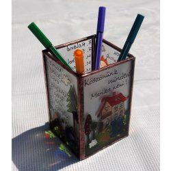 Ballagási ceruzatartó magyar tanárnak
