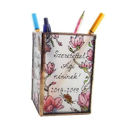 Magnóliás ceruzatartó az általad kért szöveggel
