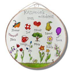 Blume Abschiedsgeschenk Glasbild für Kindergärtnerinnen
