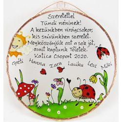 Marienkäfer Abschiedsgeschenk Bild für Kindergärtnerinnen