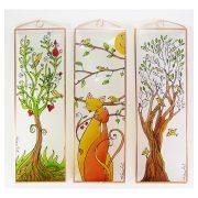 Lebensbaum mit verwobenen Zweigen Glasbilder, Glasmalerei