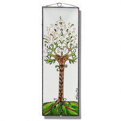 Baum des Lebens 3 Glasbild, Glasmalerei