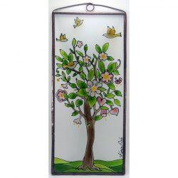 Blühender Baum des Lebens 2 Glasbild, Glasmalerei