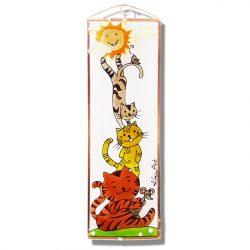 Katzen Glasbild, Glasmalerei