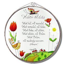 Tulpe Göttlicher Haussegen - Glasbilder, Glasmalerei