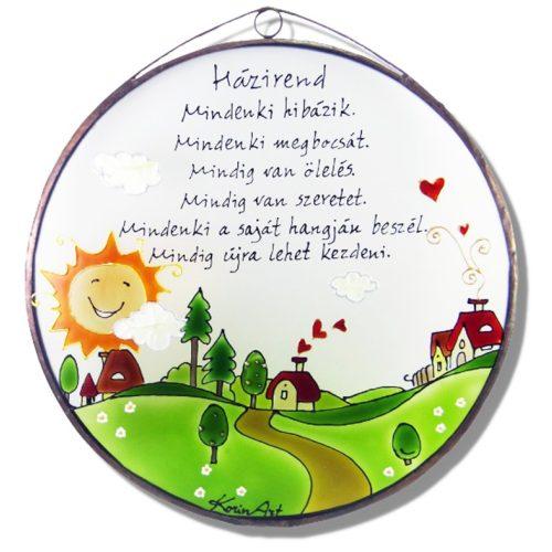 Bauernhof Hausordnung - Glasbilder, Glasmalerei