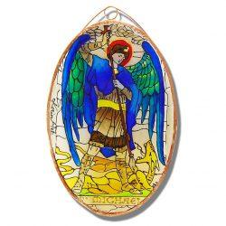 Szent Mihály üvegfestmény, ikon festmény