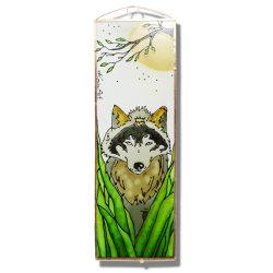Farkas üvegkép, üvegfestmény