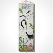 Daru madár Üvegkép, üvegfestmény