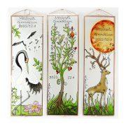 Kranich Glasbild, Glasmalerei