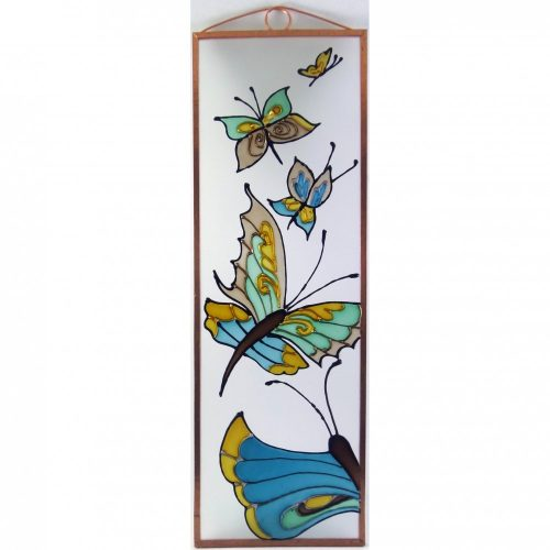 Schmetterlinge Glasbild, Glasmalerei
