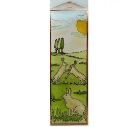 Kaninchen Glasbild, Glasmalerei