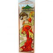 Geisha Glasbild, Glasmalerei