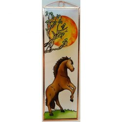 Wilde Pferde Glasbild, Glasmalerei
