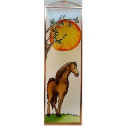 Pferde Glasbild, Glasmalerei