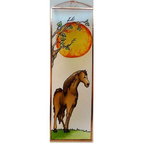 ló üvegkép, üvegfestmény