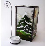 Winterlandschaft Teelichthalter
