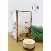 Schneemann Teelichthalter