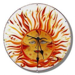 Nap egyedi falióra, kézi festésű üvegóra