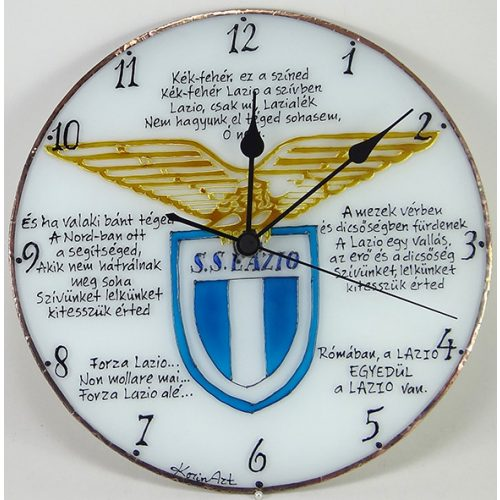 Lazio Fußballmannschaft Wanduhr modern