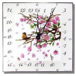 Virágzás - 24 órás egyedi falióra