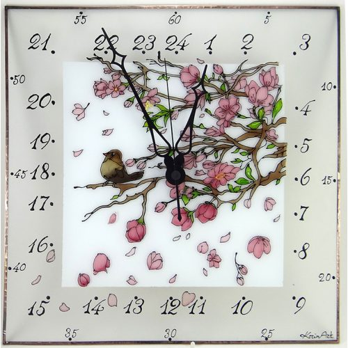 Blüte - 24 Stunden Wanduhr modern