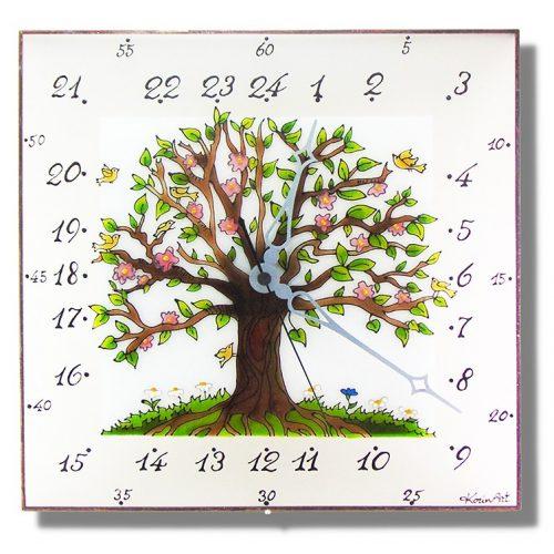 Baum des Lebens - 24 Stunden Wanduhr modern