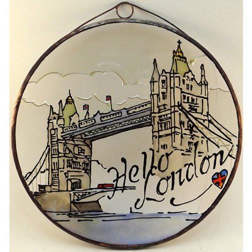 Hello London Glasbild, Glasmalerei