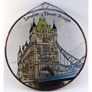 London Tower Bridge Glasbild, Glasmalerei