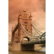 London Tower Bridge üvegkép, üvegfestmény