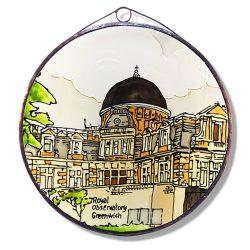 Greenwichi Királyi Obszervatórium üvegkép, üvegfestmény