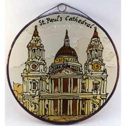St Paul Cathedral üvegkép, üvegfestmény