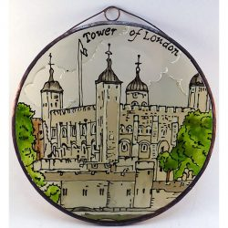 Tower of London üvegkép, üvegfestmény