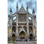 Westminster Abbey Glasbild, Glasmalerei