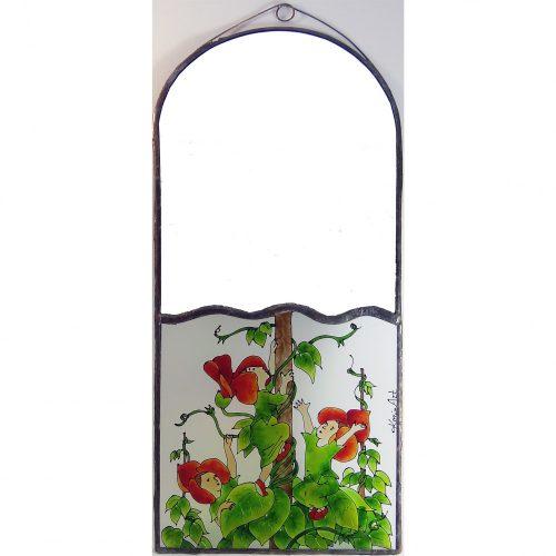 Futóvirágos fali tükör