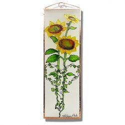 Sonnenblume Glasbilder, Glasmalerei