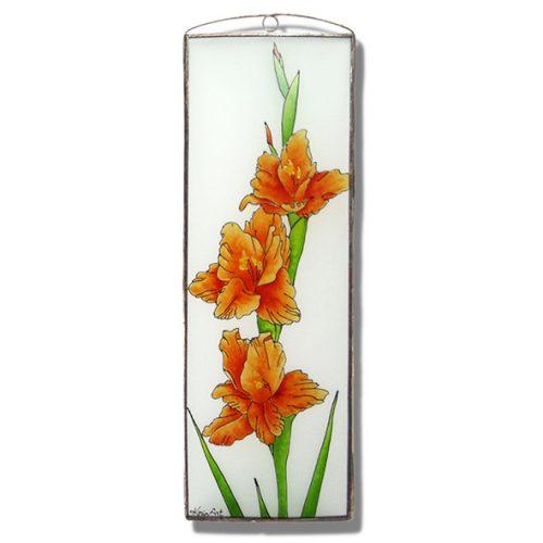 Gladiolus Glasbilder, Glasmalerei