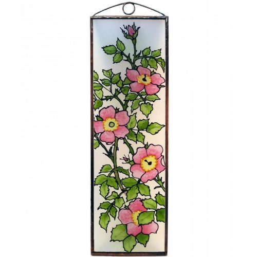 Wild Rose Blume Glasbilder, Glasmalerei