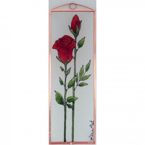 Rose Glasbilder, Glasmalerei