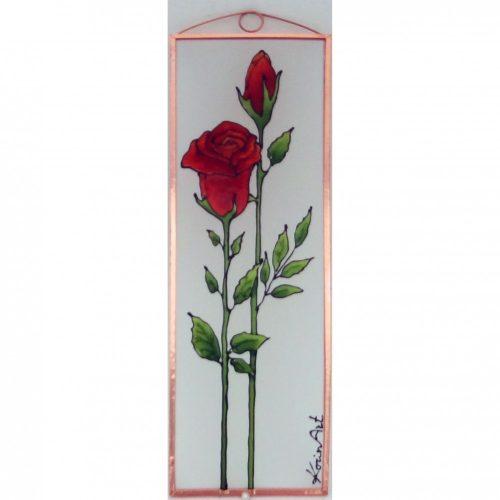 Rózsa üvegkép, üvegfestmény