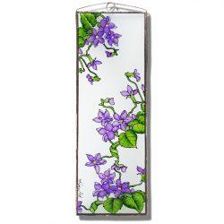 Violett Glasbilder, Glasmalerei