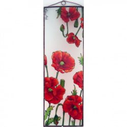 Mohnblumen Glasbilder, Glasmalerei