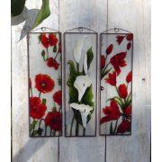 Tulipánok üvegkép, üvegfestmény