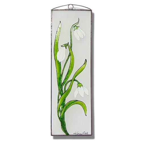 Schneeglöckchen Glasbilder, Glasmalerei