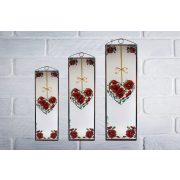 Kamille Herz Glasbilder, Glasmalerei