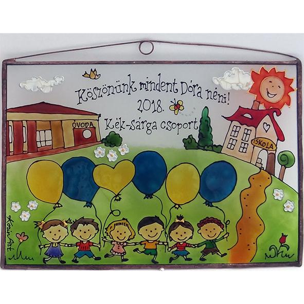 Blau-gelbe Kindergartengruppe